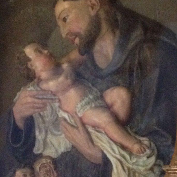 Wachsbild des hl. Antonius von Padua St. Antonius Seligenthal