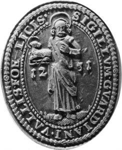 Altes Wappen des Eremitoriums Seligenthal 1231